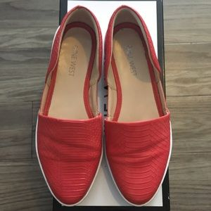 Nine West 'lets play' red/orange sneakers